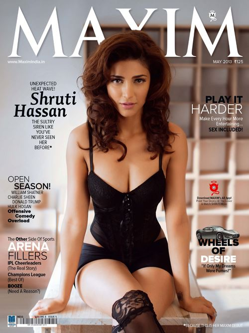 Hot-Shruti-Hassan-on-the-cover-of-Maxim-India