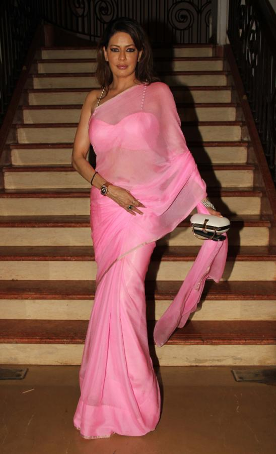Poonam Jhawar Sizzles in Pink Saree At Enemmy Movie