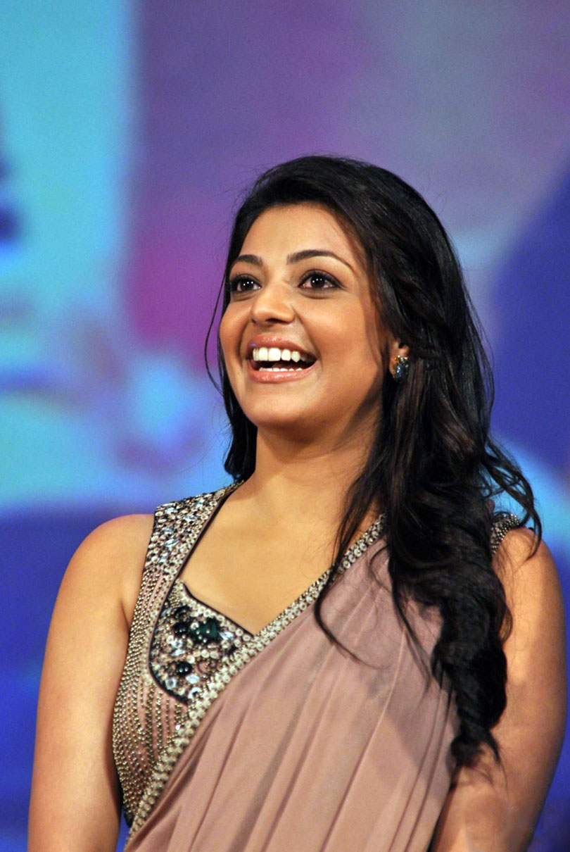 Kajal Agarwal Hot Stills In Saree At Special Chabbis Audio Launch