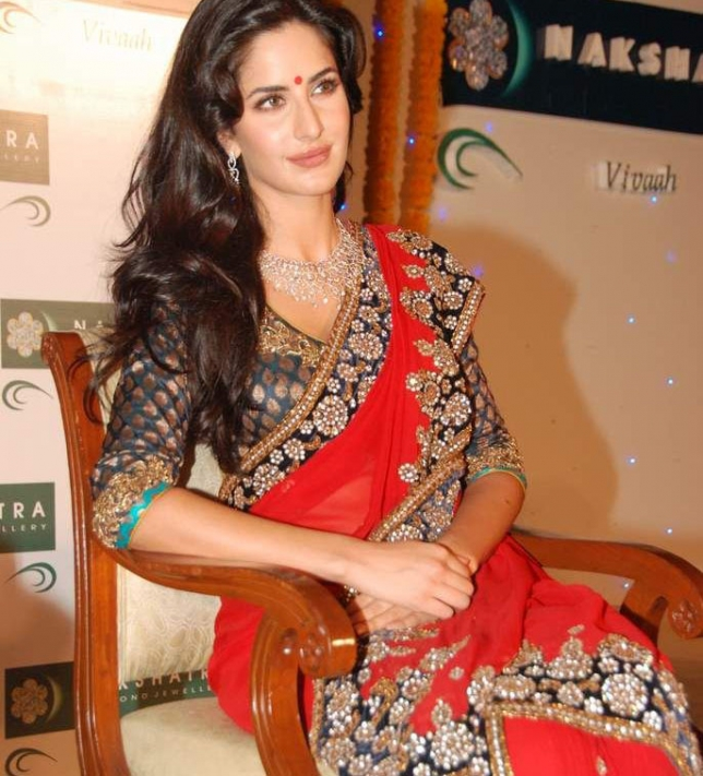 Katrina Kaif Latest Stills In Red Saree