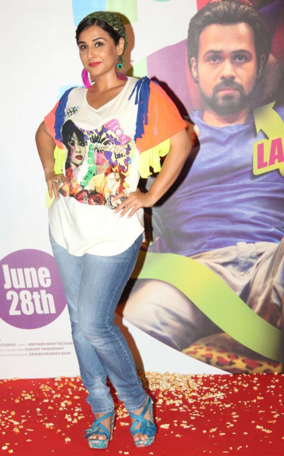 Vidya Balan At Ghanchakkar Movie Lazy Lad Song Launch